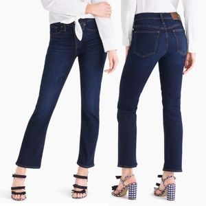 "J. Crew NWT 9"" High-rise Flare Crop Dark Wash Jean"